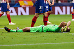 Atletico de Madrid's Jan Oblak during UEFA Champions League match between Atletico de Madrid and Club Brugge at Wanda Metropolitano Stadium in Madrid, Spain. October 03, 2018. (ALTERPHOTOS/A. Perez Meca)