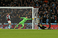 Sergio Aguero of Manchester City shoots into the side netting during Aston Villa vs Manchester City, Caraboa Cup Final Football at Wembley Stadium on 1st March 2020