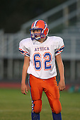 Attica Blue Devils junior varsity football against the Pembroke Dragons during a Genesee Region League game at Pembroke High School on September 22, 2011 in Pembroke, New York.  (Copyright Mike Janes Photography)