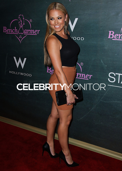 HOLLYWOOD, LOS ANGELES, CA, USA - AUGUST 28: Jessica Hall arrives at the Benchwarmer Back To School Celebration to Benefit Children of the Night held at Station Hollywood at the W Hotel Hollywood on August 28, 2014 in Hollywood, Los Angeles, California, United States. (Photo by Xavier Collin/Celebrity Monitor)