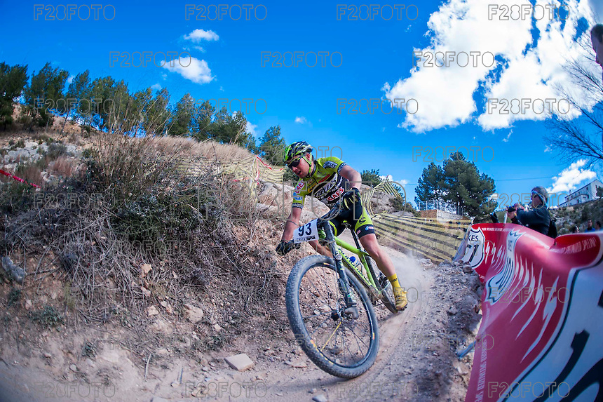 Chelva, SPAIN - MARCH 6: Cristofer Bosque during Spanish Open BTT XCO on March 6, 2016 in Chelva, Spain