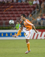 Houston Dynamo defender Patrick Ianni (4). The Houston Dynamo tied the Columbus Crew 1-1 in a regular season MLS match at Robertson Stadium in Houston, TX on August 25, 2007.