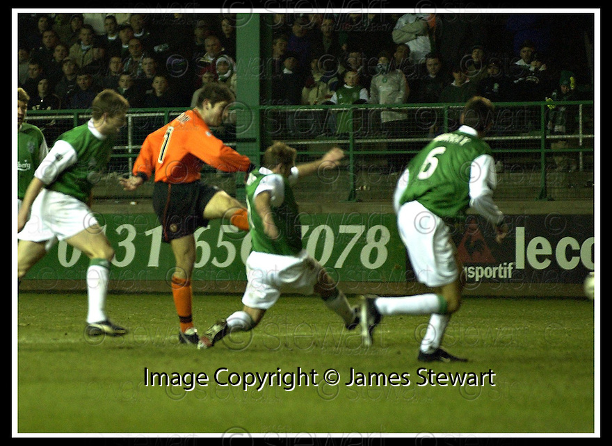 02/01/2002                 Copyright Pic : James Stewart .Ref :     .File Name : stewart-hibs v dundee utd 08.JAMES PATERSON SCORES UNITED'S GOAL...James Stewart Photo Agency, Stewart House, Stewart Road, Falkirk. FK2 7AS      Vat Reg No. 607 6932 25.Office     : +44 (0)1324 630007     .Mobile  : + 44 (0)7721 416997.Fax         :  +44 (0)1324 630007.E-mail  :  jim@jspa.co.uk.If you require further information then contact Jim Stewart on any of the numbers above.........
