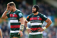 Sione Kalamafoni of Leicester Tigers looks on. Gallagher Premiership match, between Leicester Tigers and Worcester Warriors on September 21, 2018 at Welford Road in Leicester, England. Photo by: Patrick Khachfe / JMP