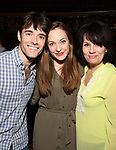 Corey Cott, Laura Osnes and Beth Leavel attends the Actors' Equity Broadway Opening Night Gypsy Robe Ceremony honoring Kevin Worley from 'Bandstand' at the Bernard B. Jacobs Theatre on 4/26/2017 in New York City.
