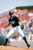 Wascar Serrano of the Rancho Cucamonga Quakes during a California League baseball game at The Epicenter circa 1999 in Rancho Cucamonga,CA. (Larry Goren/Four Seam Images)