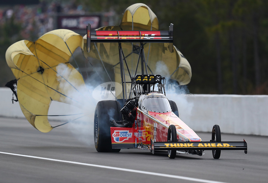 Mar 16, 2019; Gainesville, FL, USA; NHRA top fuel driver Brittany Force during qualifying for the Gatornationals at Gainesville Raceway. Mandatory Credit: Mark J. Rebilas-USA TODAY Sports