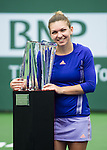 Simona Halep (ROU) wins BNP Parisbas Open against Jelena Jankovic (SRB) 26 75 64