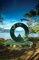 The Ben Lomond Memorial and Loch Lomond from Rowardennan, Loch Lomond and the Trossachs National Park, Stirlingshire