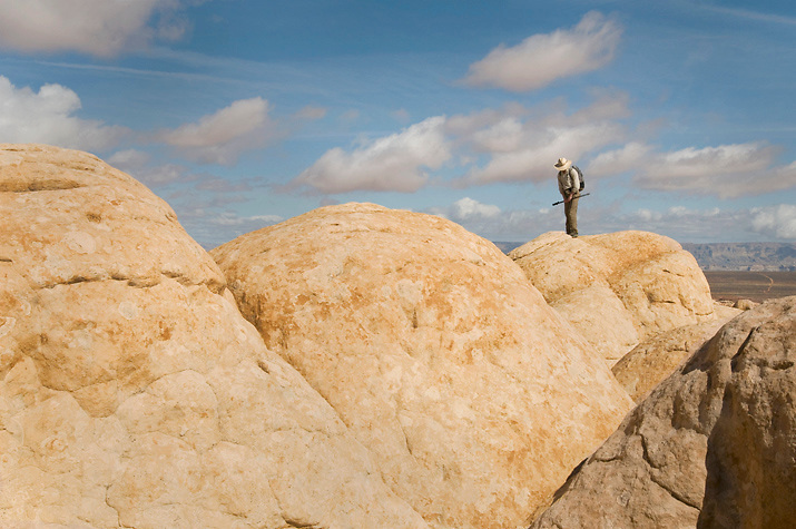 A line of petrified sand dunes turns into a playground for the fit and adventurous. Paria Plateau, AZ