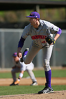 March 6 2009: Zach Taylor of the Evansville Purple Aces in action against the Pepperdine Waves at Eddy D. Field Stadium in Malibu,CA.  Photo by Larry Goren/Four Seam Images