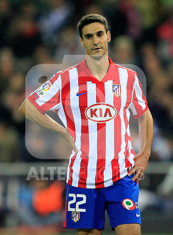 Atletico de Madrid's Pablo Ibanez during La Liga match. November 7 2009. .(ALTERPHOTOS/Acero).