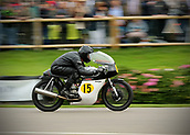 10th September 2017, Goodwood Estate, Chichester, England; Goodwood Revival Race Meeting; A Norton Manx 500 vintage bike races through the Goodwood straight