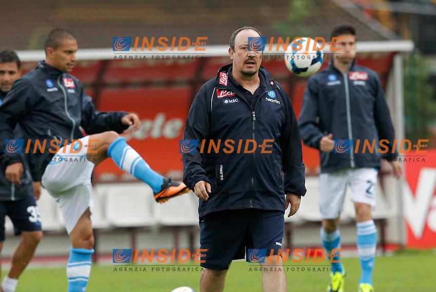 RAFAEL BENITEZ<br /> Dimaro (Trento) 26.7.2013 <br /> Football Calcio 2013/2014 Serie A<br /> Amichevole Napoli vs Carpi<br /> Foto Ciro De Luca / Insidefoto