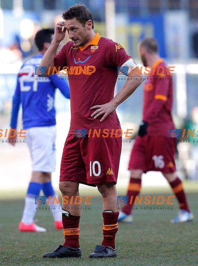 "Francesco Totti Roma, Genova 10/2/2013 .Stadio ""L.Ferraris"".Football Calcio 2012/2013 Serie A.Sampdoria Vs Roma.Foto Marco Bertorello Insidefoto"