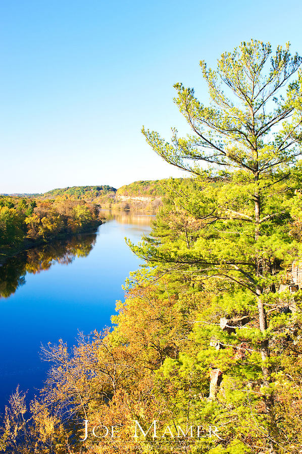 St. Croix River south of Taylors Falls. Minnesota in Autumn.