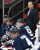 Keith Allain (Yale - Head Coach) - The visiting Yale University Bulldogs defeated the Harvard University Crimson 2-1 (EN) on Saturday, November 15, 2014, at Bright-Landry Hockey Center in Cambridge, Massachusetts.