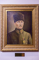 Portrait of Mustafa Kemal Ataturk founder and first President Republic of Turkey. Artist Nevzat Cevik at Military Museum Istanbul