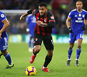 2nd February 2019, Cardiff City Stadium, Cardiff, Wales; EPL Premier League football, Cardiff City versus AFC Bournemouth; Joshua King of Bournemouth makes a run forward with the ball