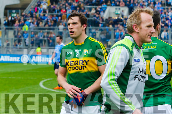 David Moran Kerry players celebrate after defeating Dublin at the National League Final in Croke Park on Sunday.