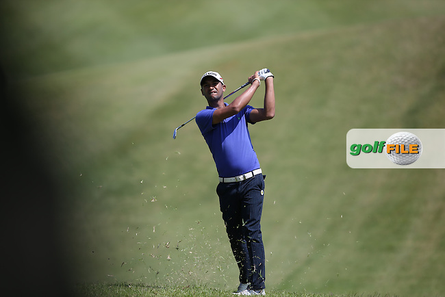 Heinrich Bruiners (RSA) in the rough and behind the trees on the first during Round One of the Africa Open 2015 at the East London Golf Club, East London, Eastern Cape, South Africa. Picture:  David Lloyd / www.golffile.ie. 05/03/2015