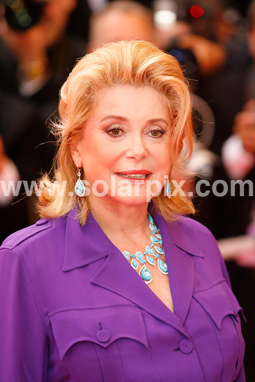 **ALL ROUND PICTURES FROM SOLARPIX.COM**.**SYNDICATION RIGHTS FOR UK, SPAIN, PORTUGAL, AUSTRALIA, S.AFRICA & DUBAI (U.A.E) ONLY**.The 2008 Cannes Film Festival the film premiere of Un Conte de Noel Premiere at the Palais de Festival in Cannes France..This pic:Catherine Deneuve.JOB REF:6430-PHZ/Pixplanete      DATE:16_05_08 .**MUST CREDIT SOLARPIX.COM OR DOUBLE FEE WILL BE CHARGED* *UNDER NO CIRCUMSTANCES IS THIS IMAGE TO BE REPRODUCED FOR ANY ONLINE EDITION WITHOUT PRIOR PERMISSION*