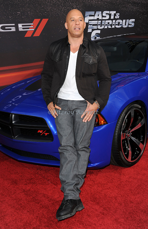 """Vin Diesel at the Los Angeles premiere of """"Fast And Furious 6"""" at Universal CityWalk May 21, 2013"""