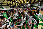 DENTON, TX - OCTOBER 5:  - North Texas Mean Green Volleyball vs FAU at the Olympic Village in Denton on October 5, 2018, in Denton, Texas. Rick Yeatts Photography/ Manny Flores