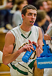 4 February 2014: University of Vermont Catamount Forward Ethan O'Day, a Sophomore from Mansfield, CT, looks up from the bench during a game against the University of Maine Black Bears at Patrick Gymnasium in Burlington, Vermont. The Cats defeated the Bears 93-65 improving to 9-1 in America East and 15-9 overall. Mandatory Credit: Ed Wolfstein Photo *** RAW (NEF) Image File Available ***