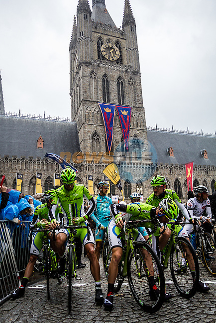 Cannondale at the start in Ypres, Tour de France, Stage 5: Ypres > Arenberg Porte du Hainaut, UCI WorldTour, 2.UWT, Wallers, France, 9th July 2014, Photo by Thomas van Bracht / Peloton Photos