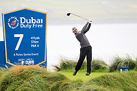 Matt Wallace (ENG) on the 7th tee during the 3rd round of the Dubai Duty Free Irish Open, Lahinch Golf Club, Lahinch, Co. Clare, Ireland. 06/07/2019<br /> Picture: Golffile | Thos Caffrey<br /> <br /> <br /> All photo usage must carry mandatory copyright credit (© Golffile | Thos Caffrey)