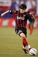 The  MetroStars' Joselito Vaca. The Chicago Fire played the NY/NJ MetroStars to a one all tie at Giant's Stadium, East Rutherford, NJ, on May 15, 2004.