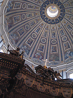Altar of St. Peter and Dome, St. Peter's Basilica, Vatican