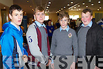 Students from CBS The Green, Tralee, pictured at the Mental Wellness Exhibition in the Brandon Conference on Monday, were l-r: Chris Leen, Cian Kennedy Dwyer Tobin and Sean Brosnan..