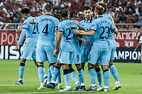 Players of Tottenham Hotspur celebrate their team goal during the UEFA Champions League match between Olympiacos Fc and Tottenham Hotspur, in Karaiskaki Stadium in Piraeus, Greece. Wednesday 18 September 2019