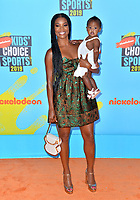 SANTA MONICA, USA. July 11, 2019: Gabrielle Union & Kaavia James Union Wade at Nickelodeon's Kids' Choice Sports Awards 2019 at Barker Hangar.<br /> Picture: Paul Smith/Featureflash