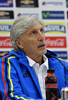 BARRANQUILLA - COLOMBIA - 22 - 03 - 2017: Jose Pekerman técnico de la Selección Colombia habla con la prensa en Barranquilla. Colombia se prepara para el próximo partido contra Bolivia para la calificificacion a la Copa Mundo FIFA Rusia 2018. / Jose Pekerman coach of Colombia Team speaks with the media in Barranquill Bolivia for the qualifier to 2018 FIFA World Cup Russia. Photo: VizzorImage / Luis Ramirez / Staff.