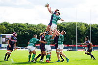 Forwards compete at a lineout. Pre-season friendly match, between Doncaster Knights and Newcastle Falcons on August 25, 2018 at Castle Park in Doncaster, England. Photo by: Patrick Khachfe / Onside Images