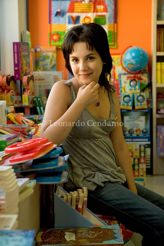 Lecce, Italy, May, 2005. The young writer Melissa P. (Panarello), author of the autobiographic erotic book '100 colpi di spazzola prima di andare a dormire' ('One Hundred Strokes of the Brush before Bed').