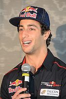 MELBOURNE, 15 March - Daniel Ricciardo of the Scuderia Toro Rosso Team at the Pirelli Media Briefing at the Rialto Building, 525 Collins Street ahead of the the 2012 Formula One Australian Grand Prix at the Albert Park Circuit in Melbourne, Australia. (Photo Sydney Low / syd-low.com)