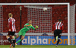 Simon Moore of Sheffield Utd makes save from a free kick during the League One match at Bramall Lane Stadium, Sheffield. Picture date: September 27th, 2016. Pic Simon Bellis/Sportimage
