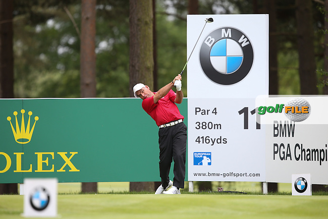 Hennie Otto (RSA) during Round Two of the 2015 BMW PGA Championship over the West Course at Wentworth, Virginia Water, London. 22/05/2015Picture David Lloyd, www.golffile.ie.
