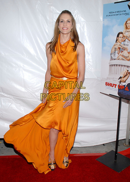"EMILY ROBISON.The Dixie Chicks movie premiere of ""Shut Up & Sing"" at Regal Cinemas Union Square.  Photo Credit: Paul Hawthorne/AdMedia  .October 24th, 2006.Ref: ADM/PH.full length orange satin dress .www.capitalpictures.com.sales@capitalpictures.com.©Paul Hawthorne/AdMedia/Capital Pictures. *** Local Caption ***"