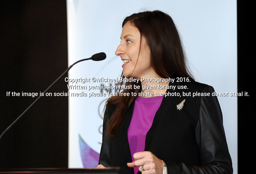 25.08.2016 NNZ CEO Jenny Wyllie at The launch of the Netball Quad Series starting this weekend at Vector Arena in Auckland . Mandatory Photo Credit ©Michael Bradley.