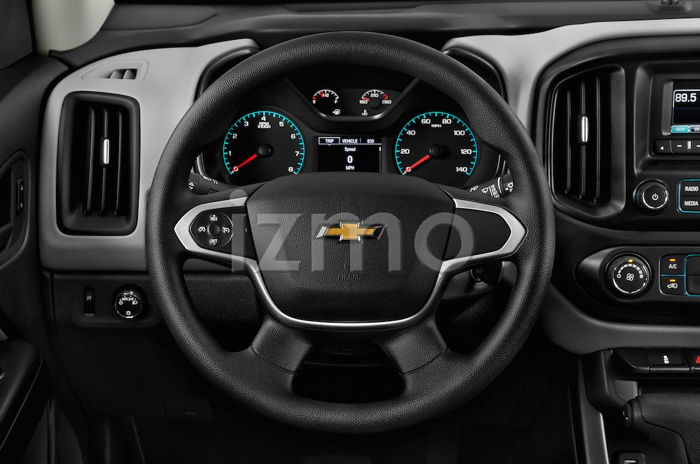 Car pictures of steering wheel view of a 2016 Chevrolet Colorado Work-Truck-Crew 4 Door Pick-up Steering Wheel