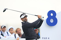 Lee Slattery (ENG) on the 8th tee during Round 3 of the D+D Real Czech Masters at the Albatross Golf Resort, Prague, Czech Rep. 02/09/2017<br /> Picture: Golffile | Thos Caffrey<br /> <br /> <br /> All photo usage must carry mandatory copyright credit     (&copy; Golffile | Thos Caffrey)