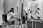 Slade school of art  London. Life class 1977. Rosemary Burton student.