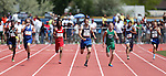 Carson's Corey Reid, second from left, wins the boys 400 meter title with a time of 47.15 seconds during the NIAA state track championships at Carson High, in Carson City, Nev., on Saturday, May 24, 2014. (Las Vegas Review-Journal, Cathleen Allison)