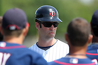 Minnesota Twins Jake Mauer during a minor league spring training intrasquad game at the Lee County Sports Complex on March 25, 2012 in Fort Myers, Florida.  (Mike Janes/Four Seam Images)