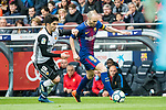 Andres Iniesta Lujan (R) of FC Barcelona competes for the ball with Carlos Soler Barragan of Valencia CF during the La Liga 2017-18 match between FC Barcelona and Valencia CF at Camp Nou on 14 April 2018 in Barcelona, Spain. Photo by Vicens Gimenez / Power Sport Images